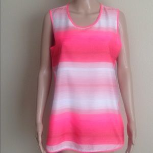 Vince Camuto pink ombré polyester tank top, size M